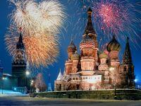 Новогодний салют над Москвой